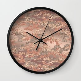 Pure Rose Gold Camouflage Wall Clock