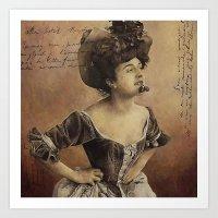 postcard Art Prints featuring ''Postcard'' by Nina Petrova