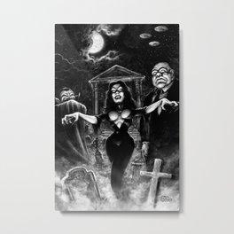 Vampira Plan 9 Metal Print