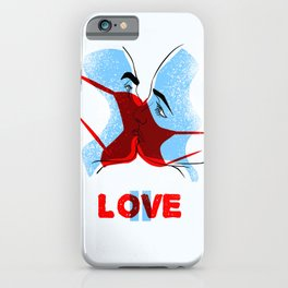 Love is paused. Poster. iPhone Case