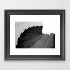 The snail stairs, Barcelona Framed Art Print