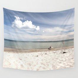 Dream beach Sea Ocean Summer Maritime Navy clouds Wall Tapestry