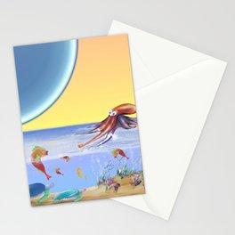 Sealife Family Childrens Illustration Stationery Cards