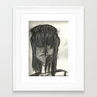 hippie Framed Art Prints featuring Hippie  by Leena Soufi