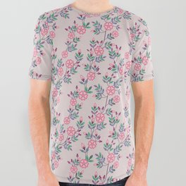 Dakota Prairies: Prairie Rose All Over Graphic Tee