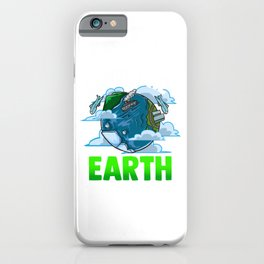 Love The Earth Hipster Cute Hippie Mother Earth iPhone Case
