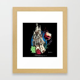 Wine and Churches in Bordeaux Framed Art Print