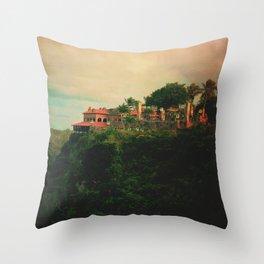 Windy evening in Caribbean  Throw Pillow