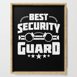 Funny Best Security Guard Handcuff Job Gift Serving Tray