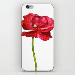 Ink Poppy Painting (Original Artwork) iPhone Skin