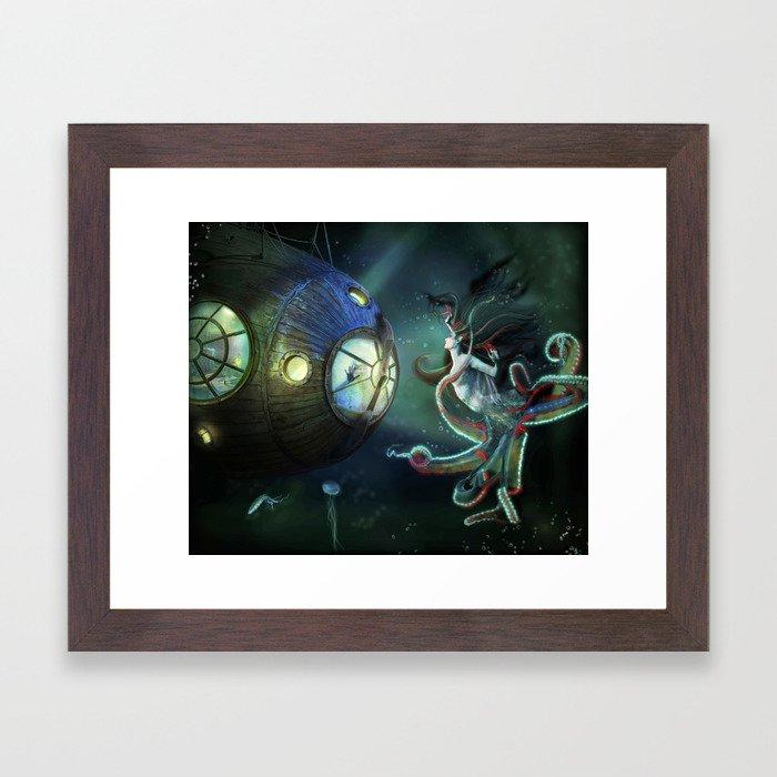 20,000 Leagues Under The Sea Framed Art Print