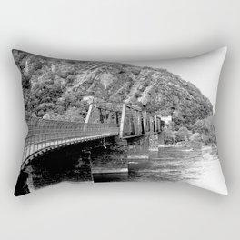 Harpers Ferry Railroad Bridge Rectangular Pillow