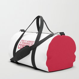 Today's Workout Gym Quote Duffle Bag