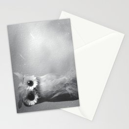 Owl Sideways  Stationery Cards