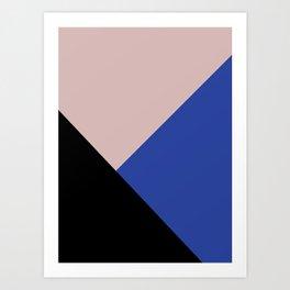 Getting Blocky Blue Art Print