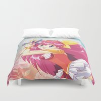 wedding Duvet Covers featuring Wedding Peach by Neo Crystal Tokyo