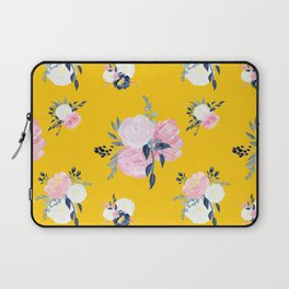 Spring Florals on Mustard Yellow Laptop Sleeve