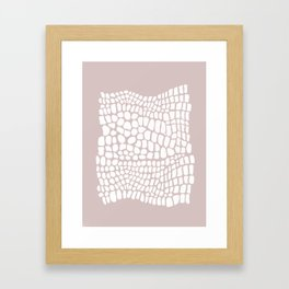white and beige snakeskin Framed Art Print