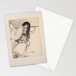 ALBERT EDELFELT, tusch, monogramsignerad. AE.  Romersk soldat Stationery Cards