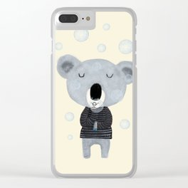 koala bubbles Clear iPhone Case