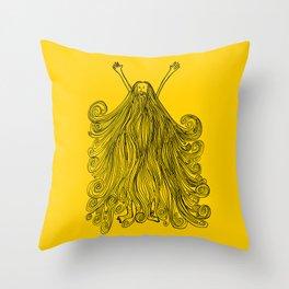 Beardy Man Throw Pillow