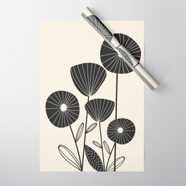 Abstract Flowers Wrapping Paper