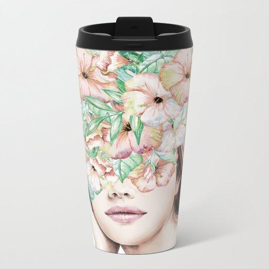 She Wore Flowers in Her Hair Island Dreams Metal Travel Mug