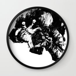 Leroy (Messy Ink Sketch) Wall Clock