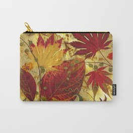 Fall Pressed Leaves Carry-All Pouch