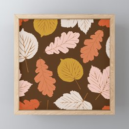 Foraged Leaves | Brown Framed Mini Art Print