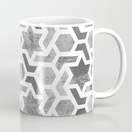 seamless pattern,  geometric  mosaic design, black and white  Coffee Mug