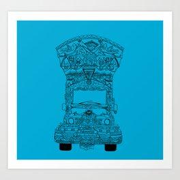 Pakistani Truck. (Light Blue) Art Print