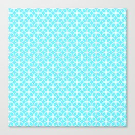 Trellis_Blue Canvas Print
