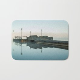 Cazenovia Lake On A Misty Morning Bath Mat