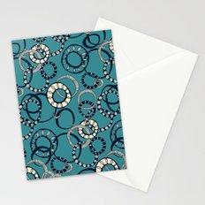 Honolulu hoopla blue Stationery Cards