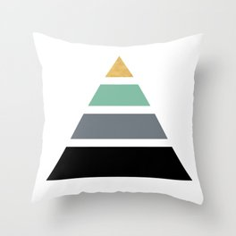 DIVIDED PYRAMID TRIANGLE WITH GOLDEN CAPSTONE Throw Pillow