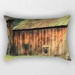 Sunrise on a weathered barn Rectangular Pillow