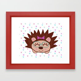 happy  hedgehog Framed Art Print