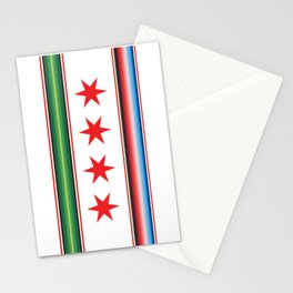 Chicago Mexican Flag Stationery Cards