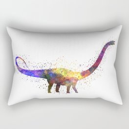 Diplodocus dinosaur in watercolor Rectangular Pillow