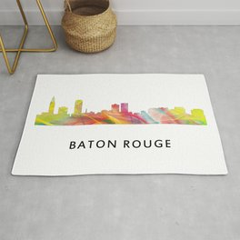 Baton Rouge Louisiana Skyline Rug