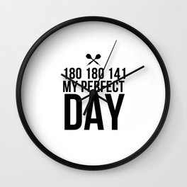 Perfect Dart Day | Darts Bullseye gift idea Wall Clock