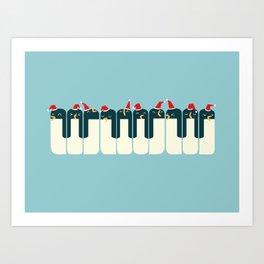 The Penguin Choir Art Print