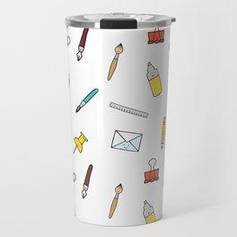 Happy office stationary Travel Mug
