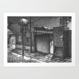 Entrance to the factory Art Print