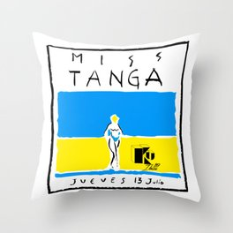 Miss Tanga Throw Pillow