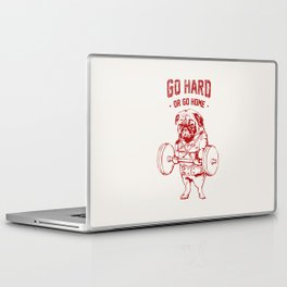Go Hard Or Go Home Pug In Red Laptop & iPad Skin