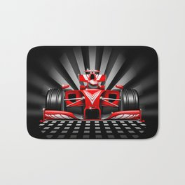 Formula 1 Red Race Car Bath Mat