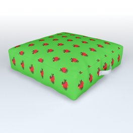 Strawberry Green - Posterized Outdoor Floor Cushion