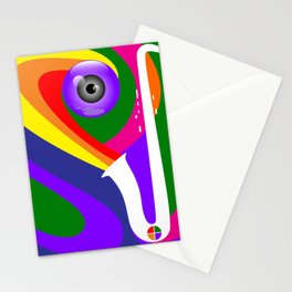 Eye Sax Stationery Cards